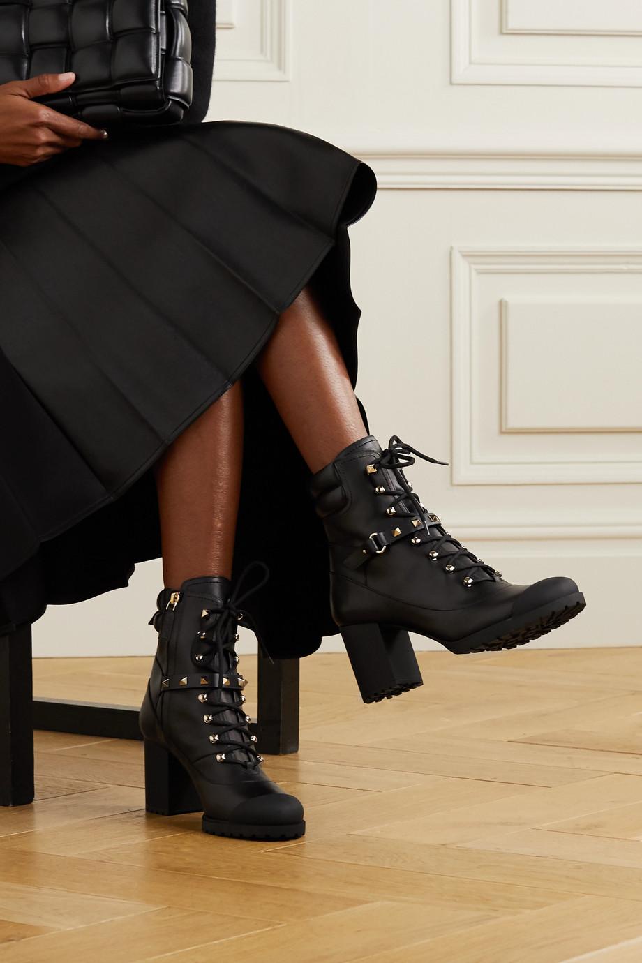 Valentino Valentino Garavani Rockstud 95 leather ankle boots