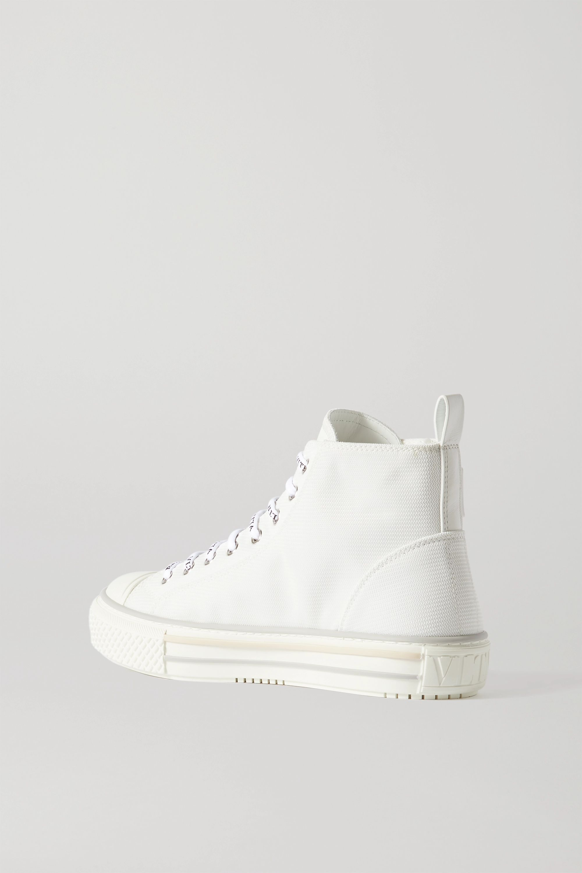 Valentino Logo-detailed canvas high-top sneakers