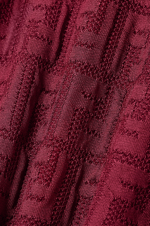 Fendi Midikleid aus Jacquard-Strick aus einer Baumwollmischung