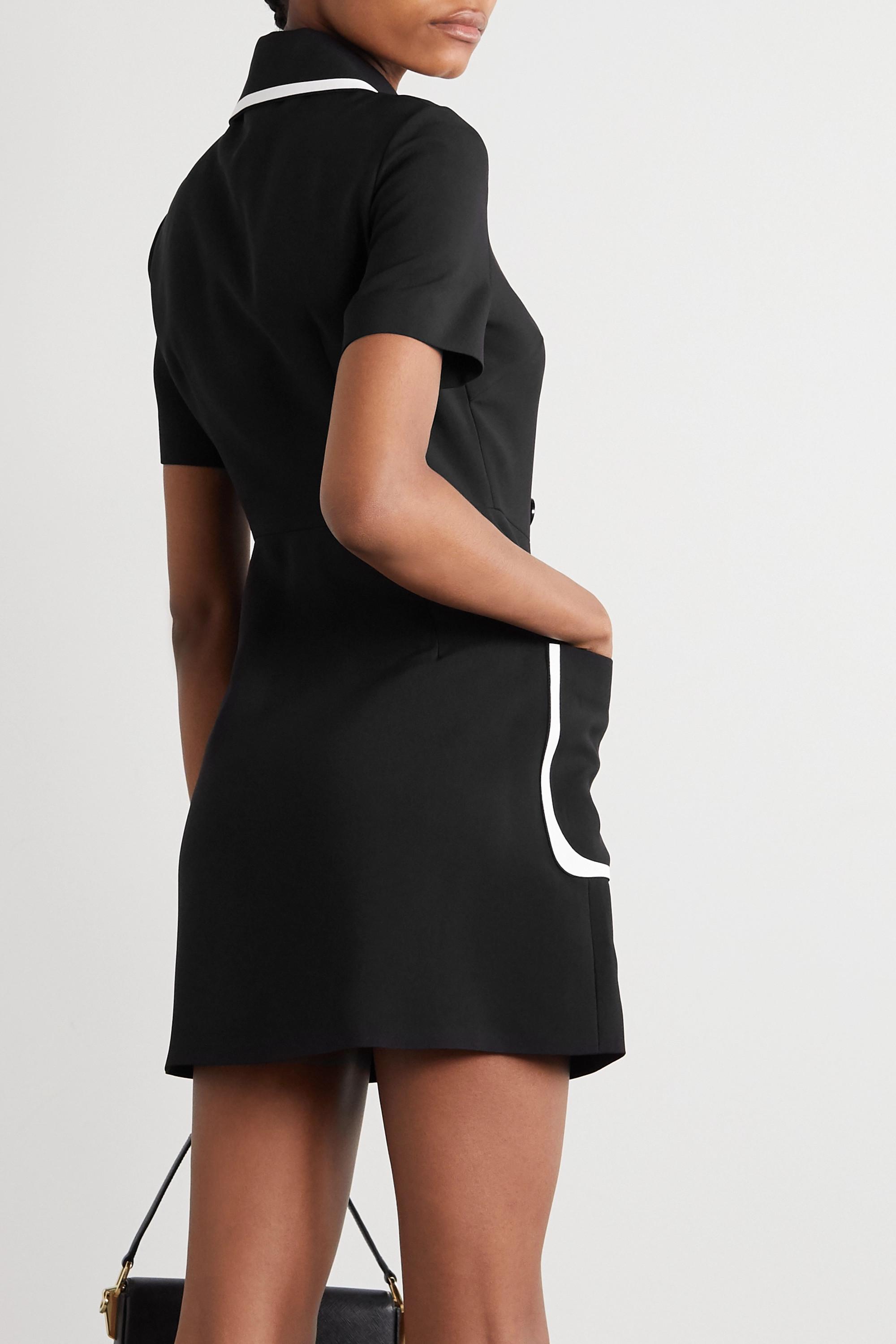 Fendi Doppelreihiges Minikleid aus zweifarbigem Crêpe