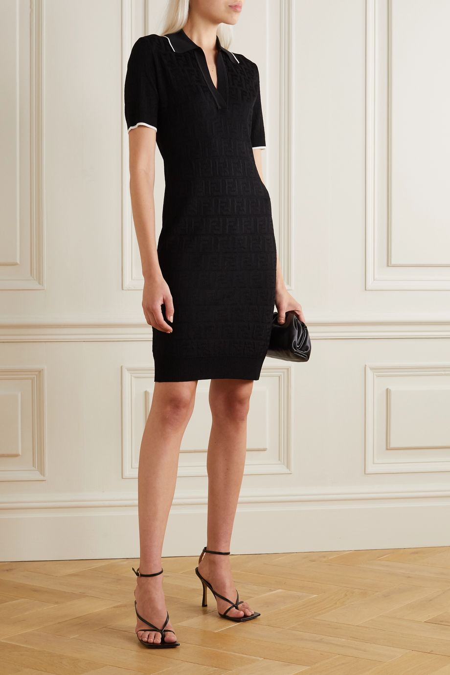 Fendi Cotton-blend jacquard mini dress