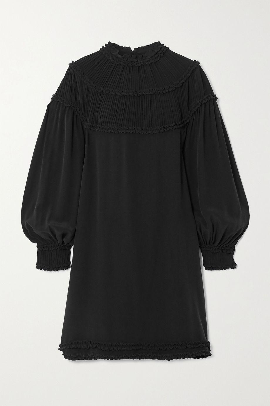 Fendi Ruffled silk-chiffon mini dress