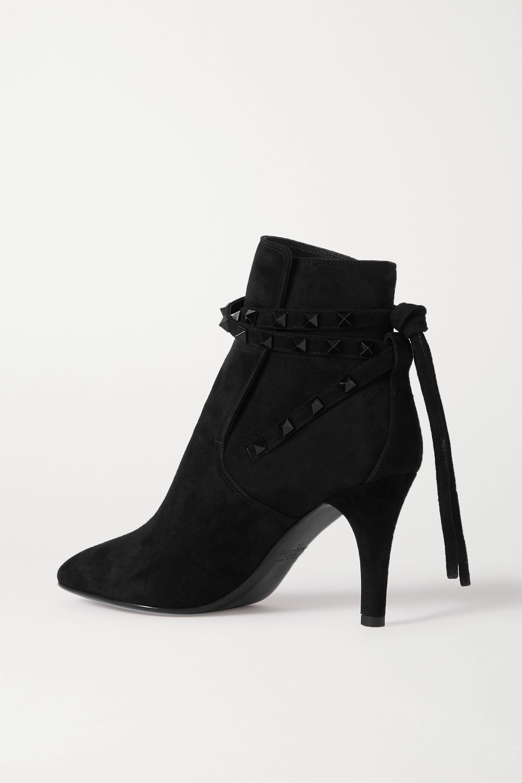 Valentino Valentino Garavani Rockstud 85 suede ankle boots