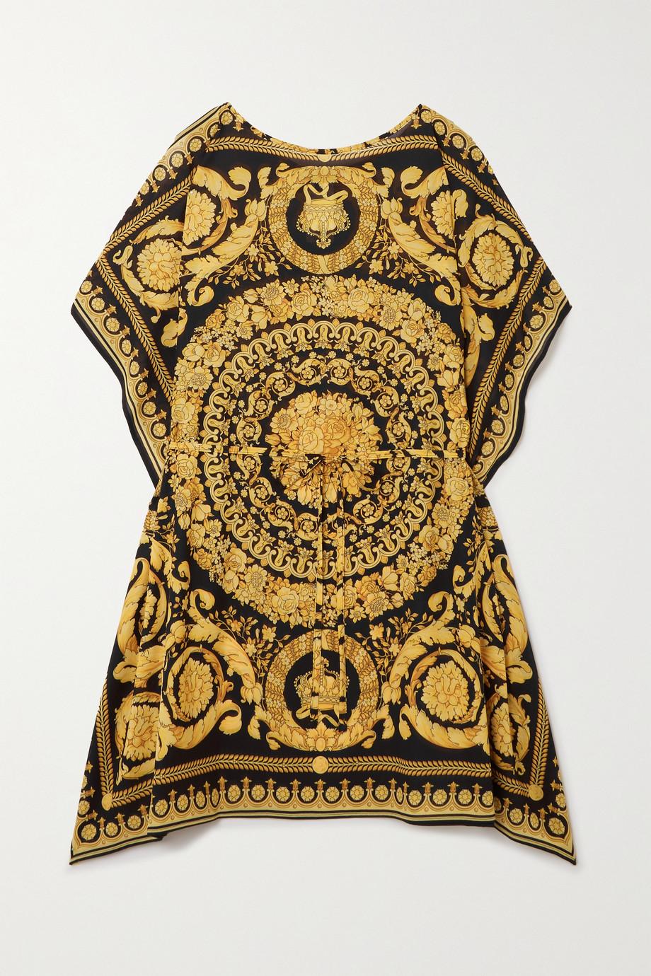 Versace 印花绉纱长罩衫裙