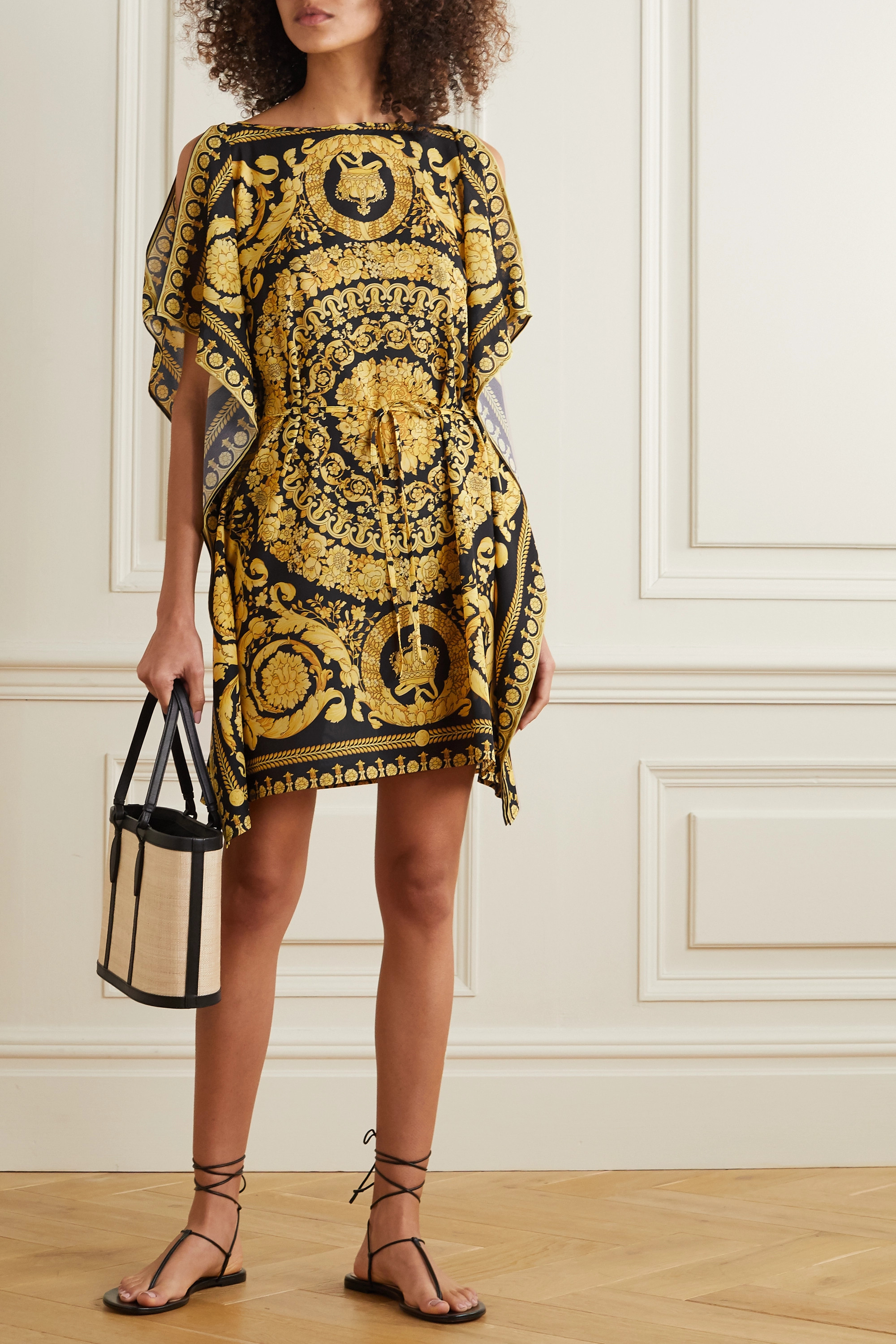 Versace Printed crepe kaftan
