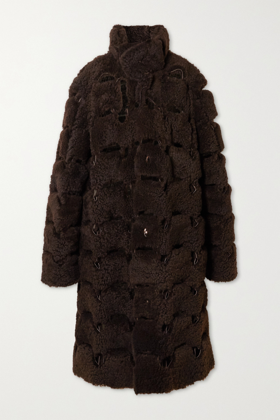 Bottega Veneta Oversized cutout shearling coat