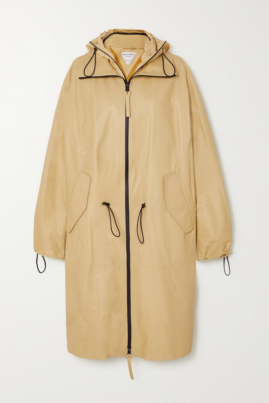 Bottega Veneta Trench-coat à capuche en cuir
