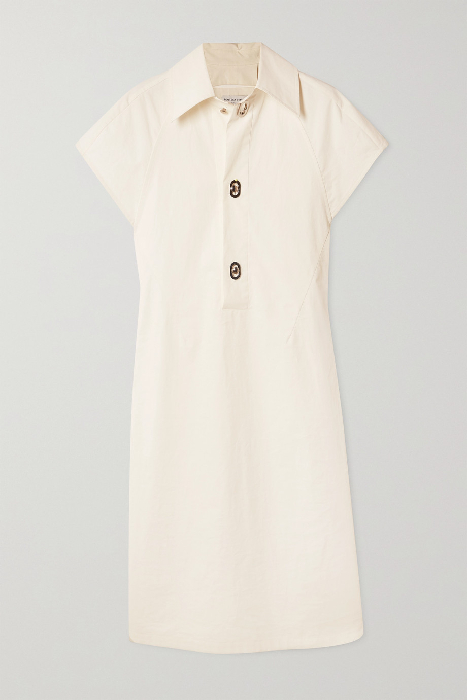 Bottega Veneta Coated cotton-poplin dress