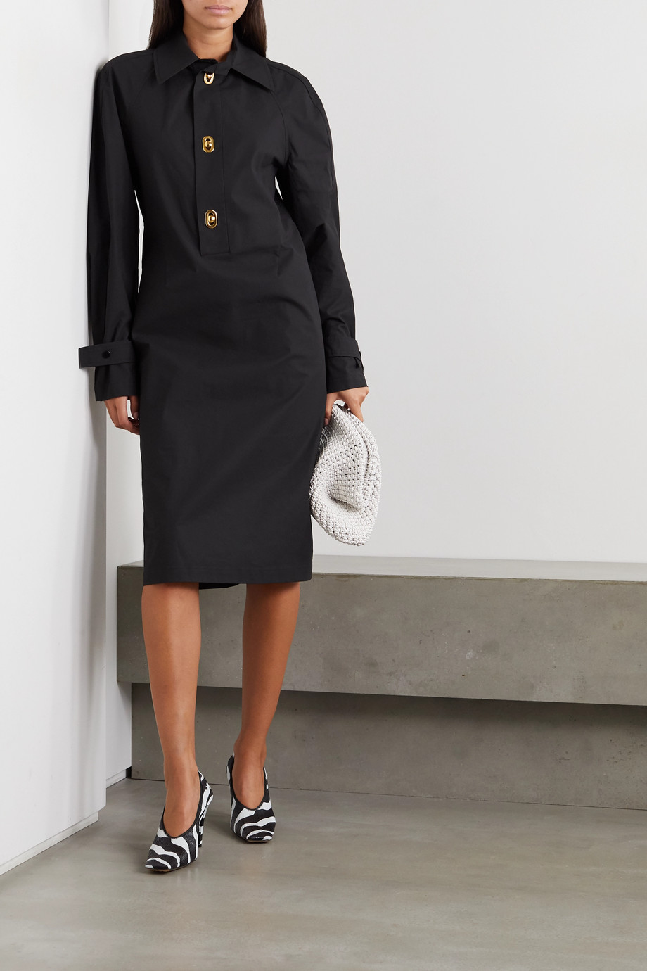 Bottega Veneta Coated-cotton dress