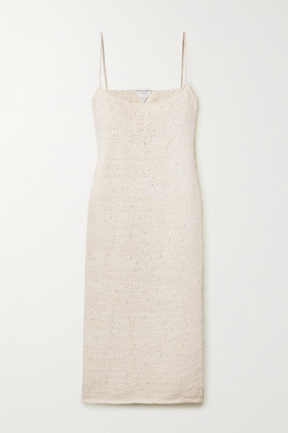 Bottega Veneta 棉质混纺中长连衣裙