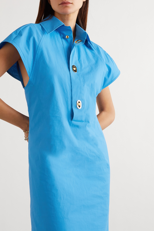 Bottega Veneta Coated cotton-poplin dress