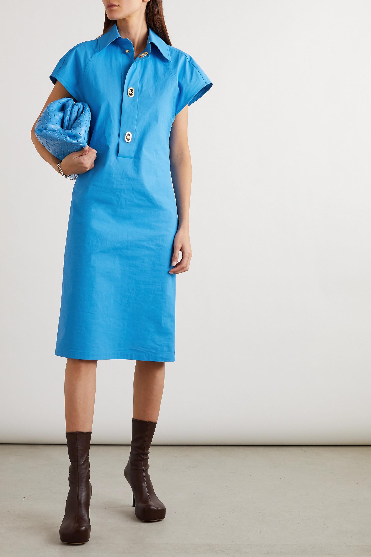 Bottega Veneta Kleid aus beschichteter Baumwollpopeline