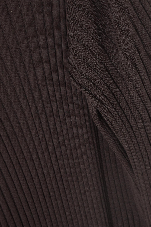 Bottega Veneta Midikleid aus gerippter Wolle mit Rollkragen