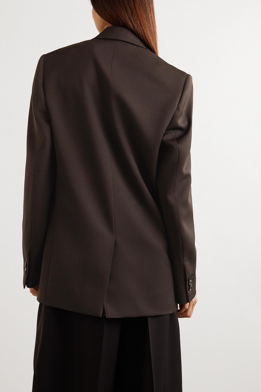 Bottega Veneta Oversized double-breasted grain de poudre blazer