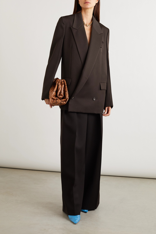 Bottega Veneta Doppelreihiger Oversized-Blazer aus Grain de Poudre