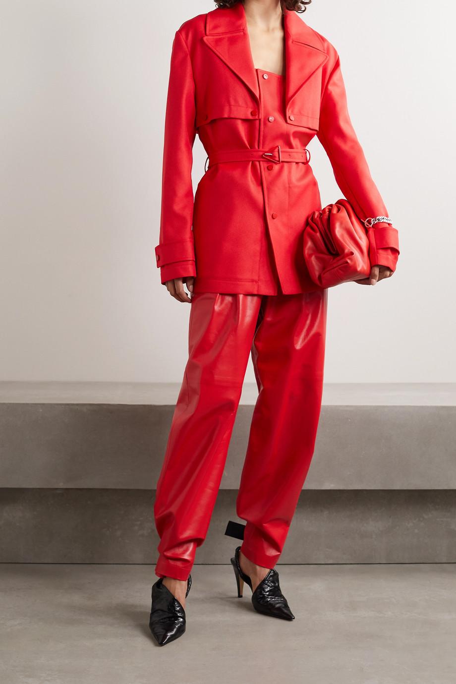 Bottega Veneta 配腰带斜纹布外套
