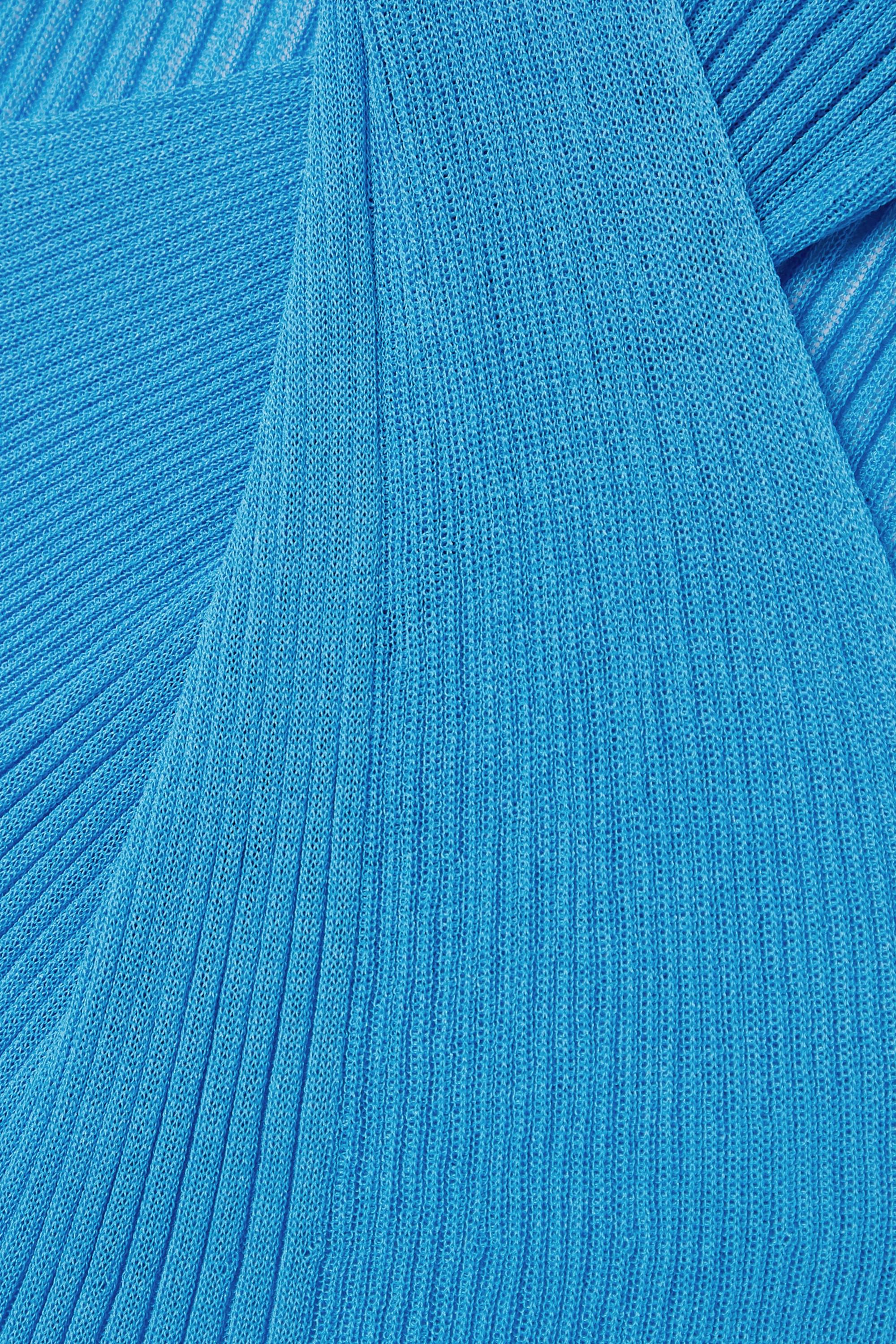 Bottega Veneta Débardeur torsadé sur le devant en coton et soie mélangés côtelés