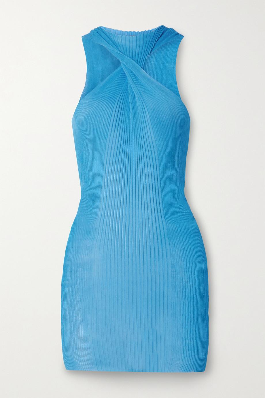 Bottega Veneta Twist-front ribbed cotton and silk-blend tank