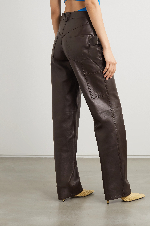 Bottega Veneta Pantalon droit en cuir