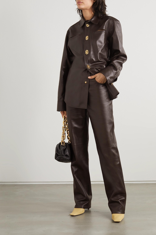 Bottega Veneta Hose mit geradem Bein aus Leder