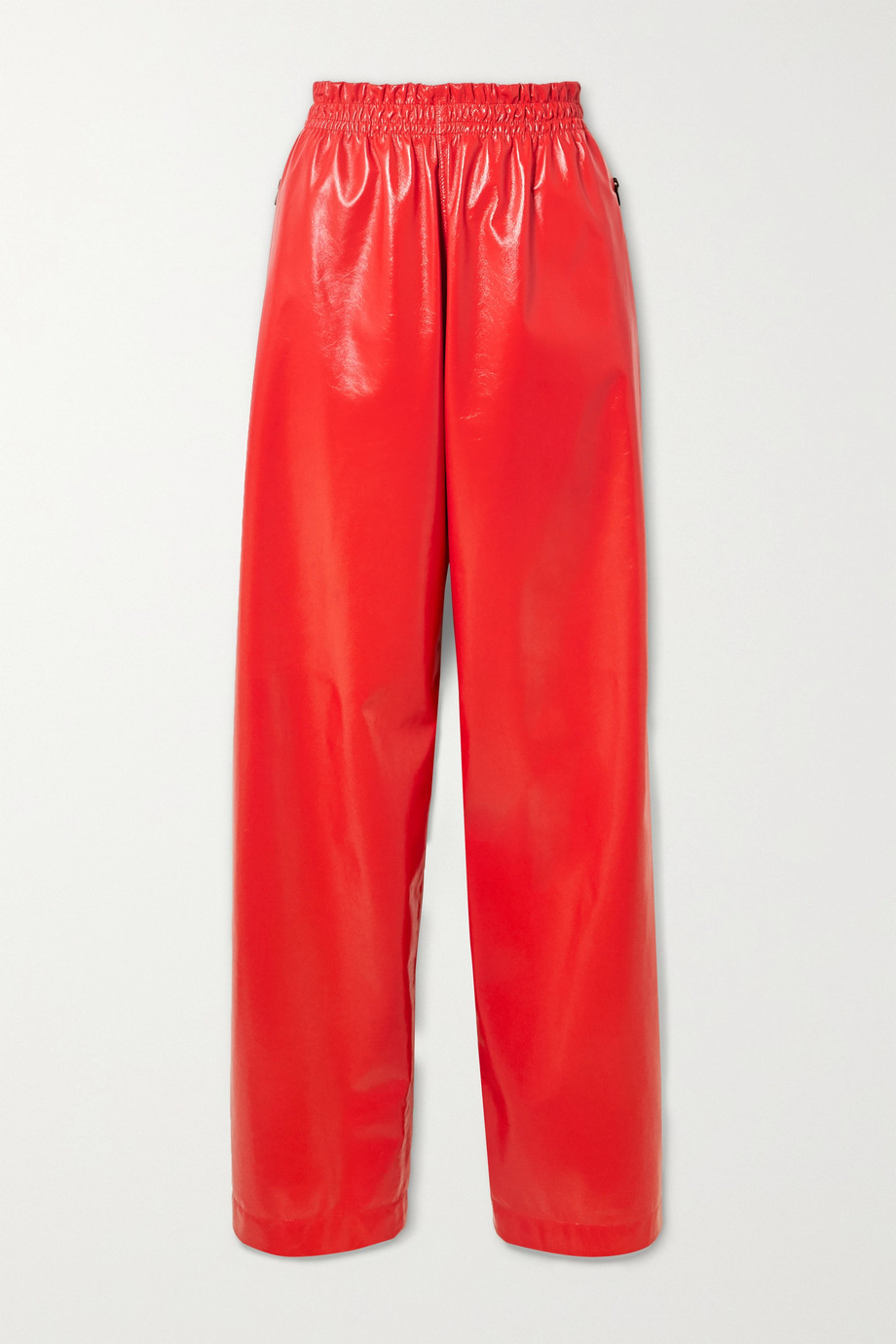 Bottega Veneta Crinkled glossed-leather wide-leg pants