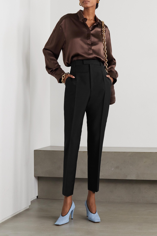 Bottega Veneta Hose mit geradem Bein aus einer Mohair-Wollmischung
