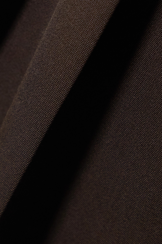 Bottega Veneta Pleated grain de poudre wide-leg pants