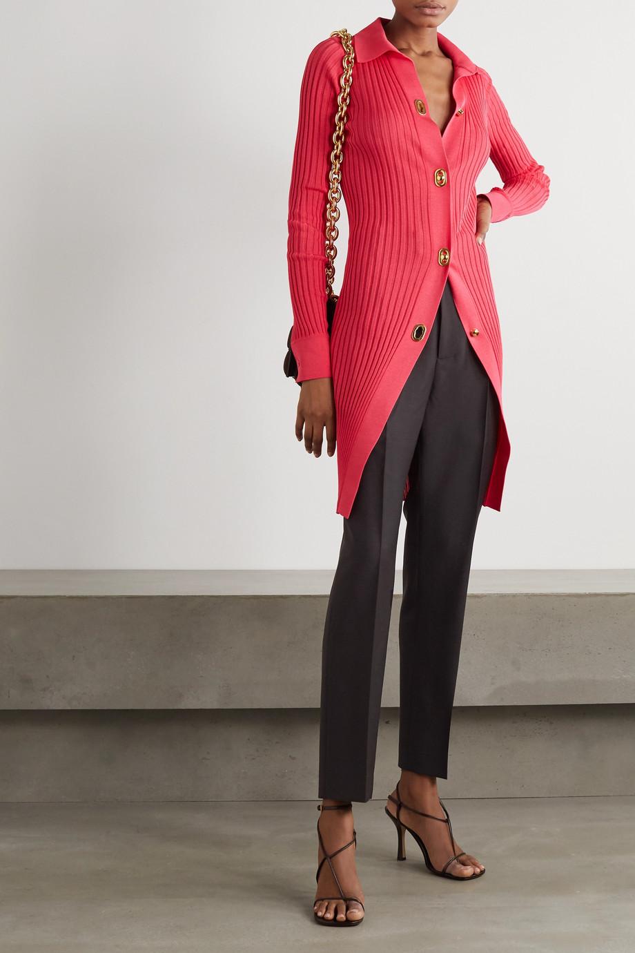 Bottega Veneta Mohair and wool-blend straight-leg pants