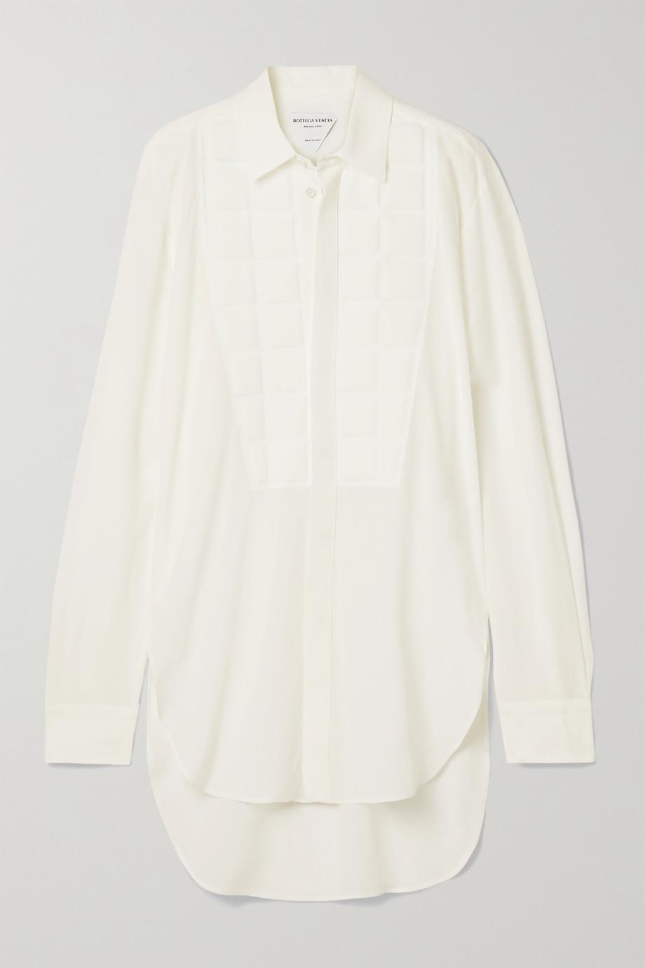 Bottega Veneta Embossed silk crepe de chine shirt
