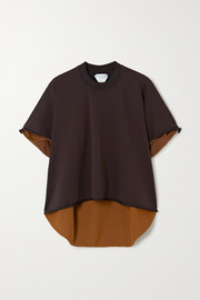 Bottega Veneta Two-tone stretch-knit top