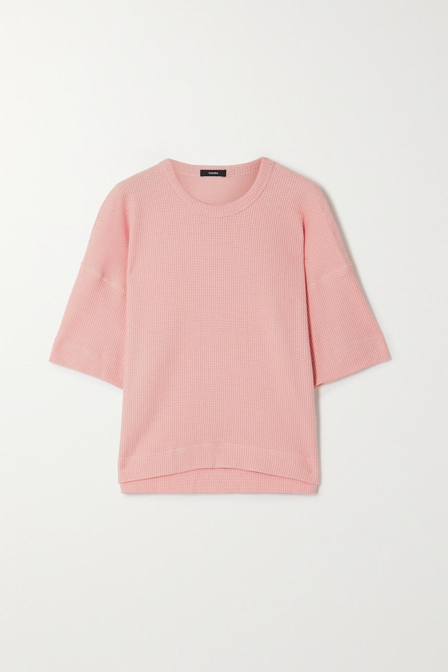 Bassike Waffle-knit organic cotton T-shirt