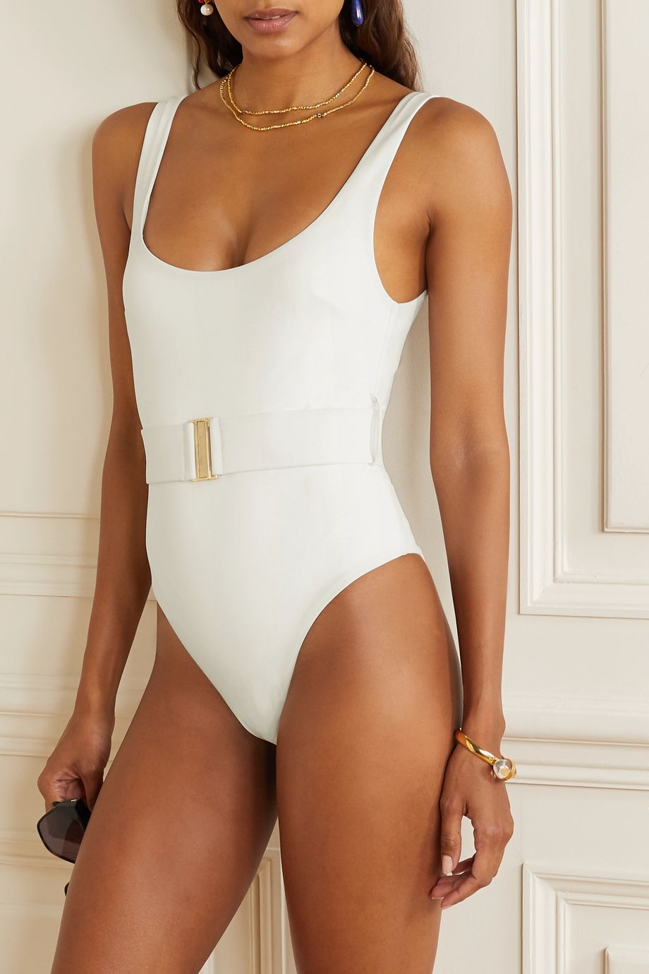 Zimmermann Bells belted swimsuit