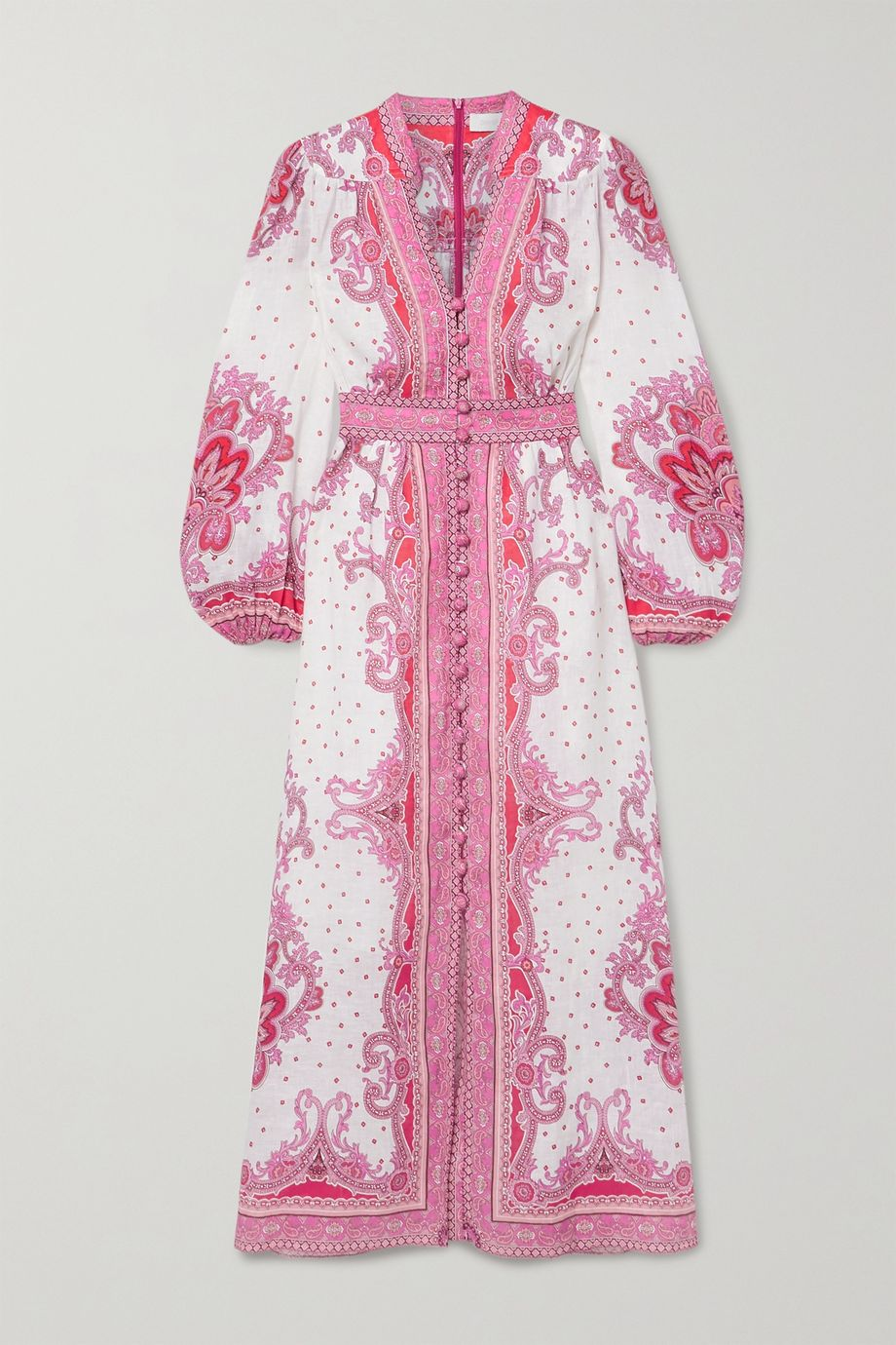 Zimmermann Bells paisley-print linen maxi dress