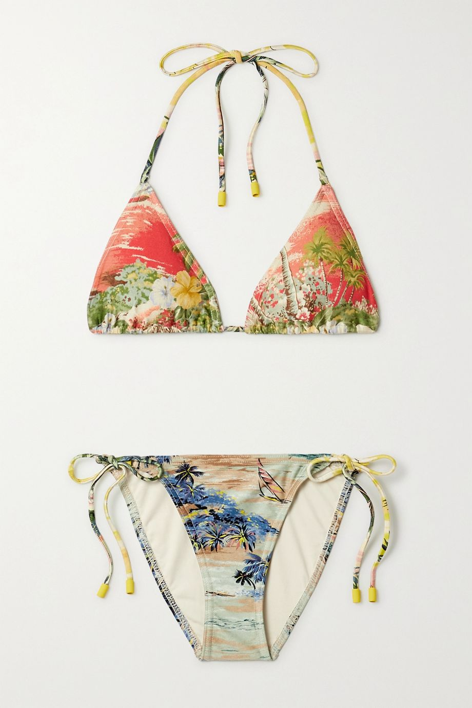Zimmermann Juliette printed triangle bikini