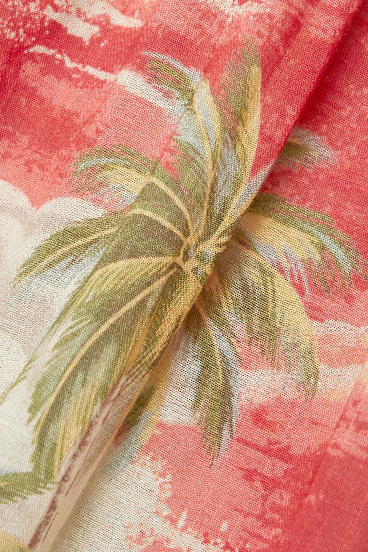 Beige Juliette Strapless Knotted Tiered Printed Linen Maxi Dress | Zimmermann