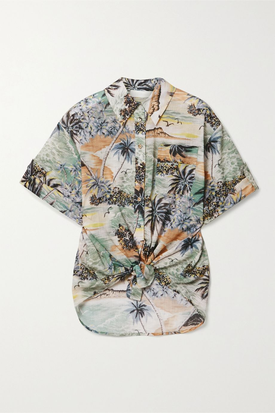 Zimmermann Juliette printed cotton-voile shirt