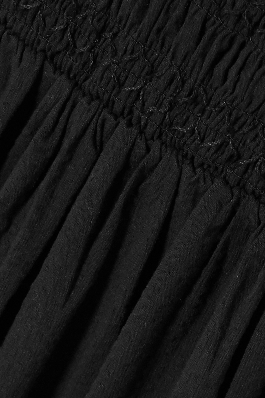 Noir Robe Midi En Crépon De Coton Stretch À Smocks Bjerkelia | Holzweiler