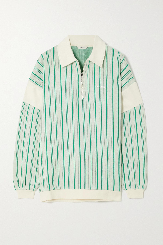 Holzweiler Lunden striped cotton-blend sweater