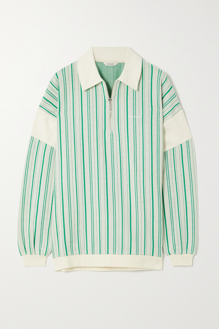 Holzweiler Lunden striped cotton-blend sweater