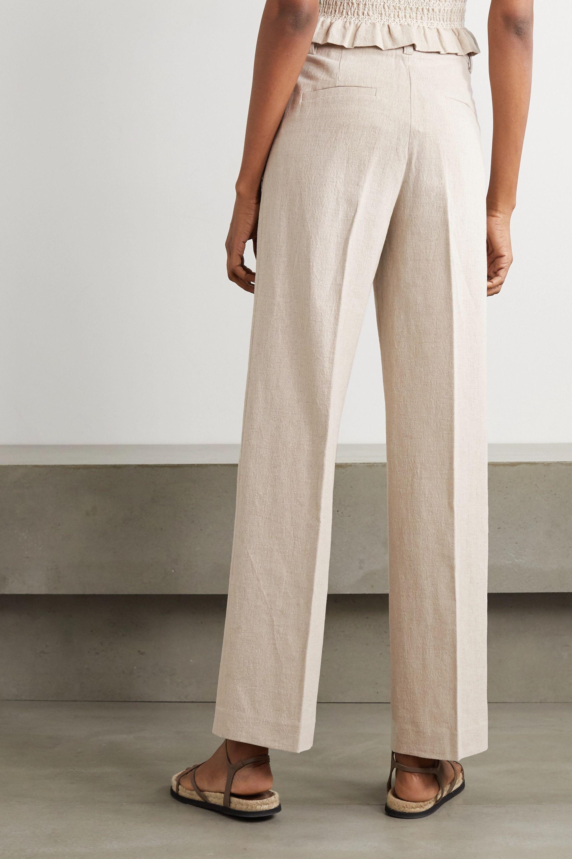 Holzweiler Bolette pleated cotton and linen-blend straight-leg pants