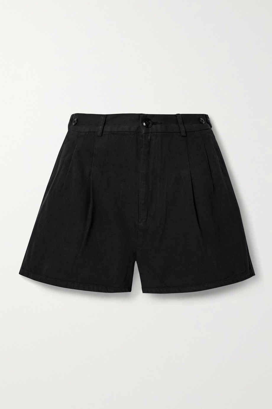 The Great The Trouser Shorts aus Baumwoll-Twill mit Falten