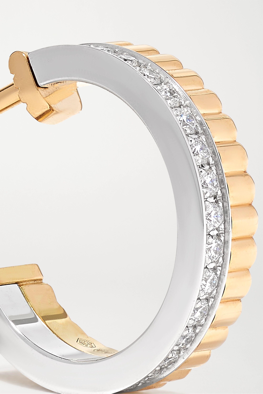 Boucheron Quatre Radiant Edition 18-karat yellow and white gold diamond earrings