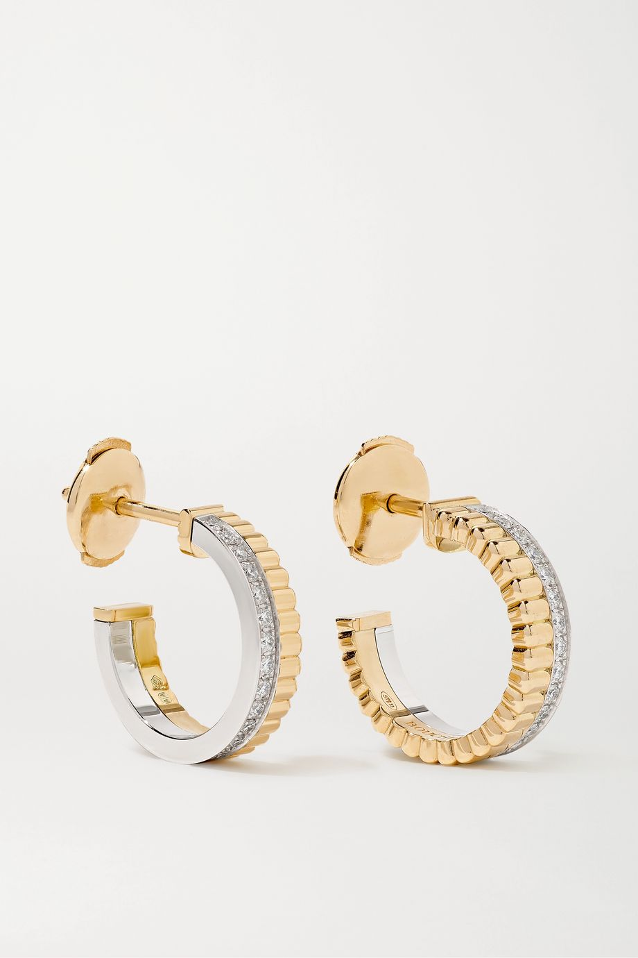 Boucheron Quatre Radiant Edition 18-karat yellow and white gold diamond earrings