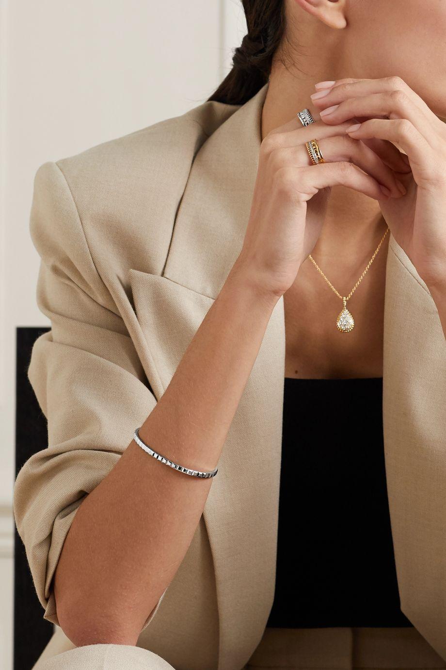 Boucheron Quatre Clou de Paris Small 18-karat white gold bangle