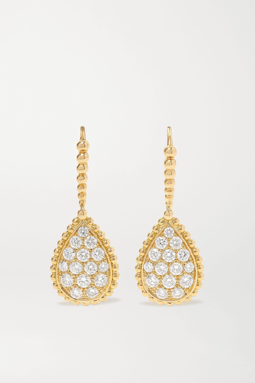 Boucheron Sleepers Serpent Bohème 18-karat gold diamond earrings