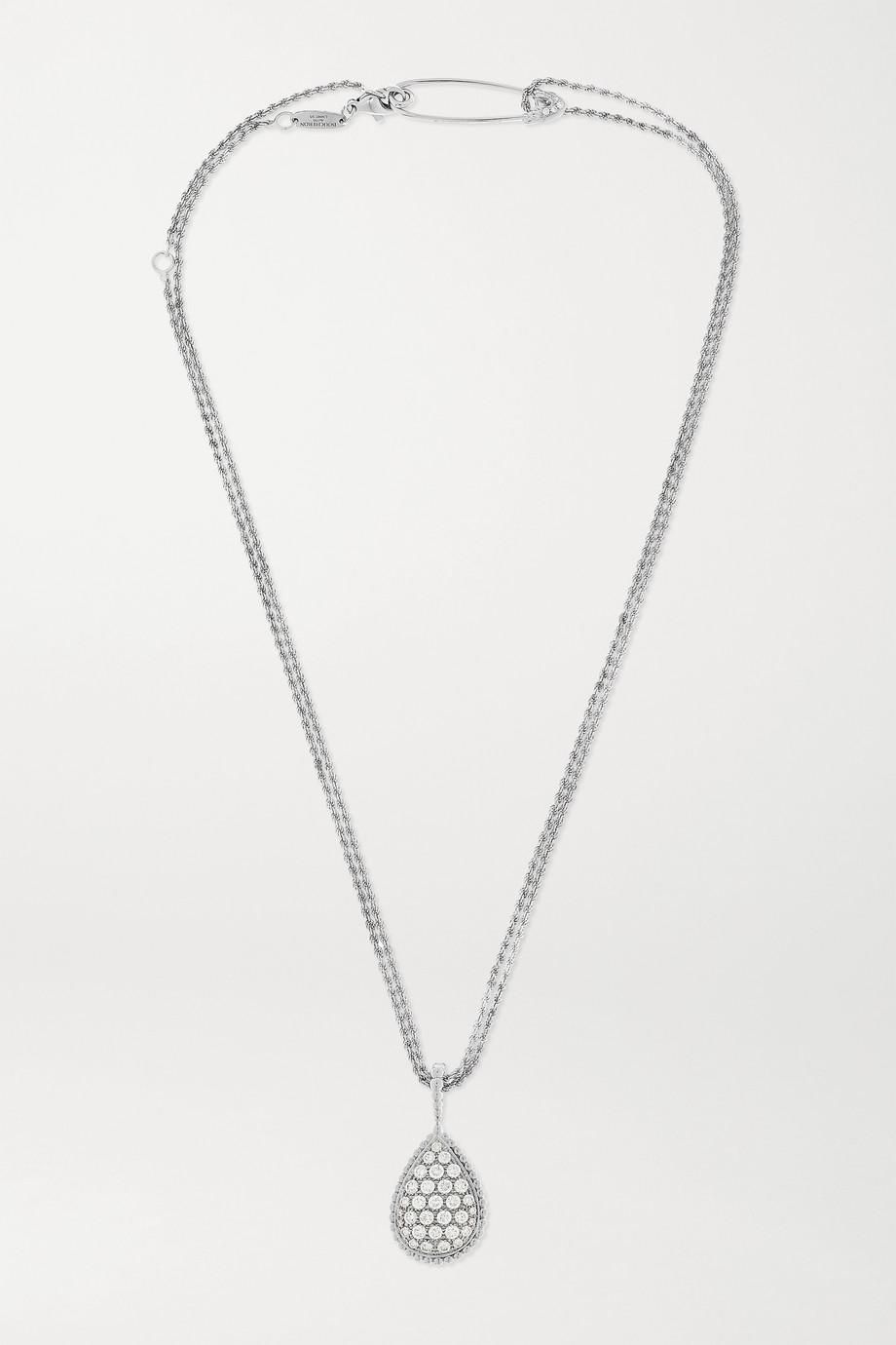 Boucheron Serpent Bohème lange Kette aus 18 Karat Weißgold mit Diamanten