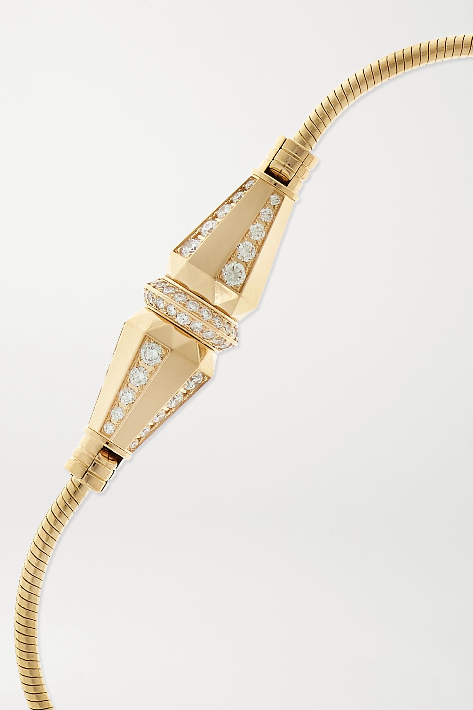 Boucheron Jack de Boucheron 18-karat gold diamond bracelet