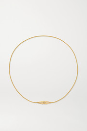 Jack de Boucheron Triple Wrap 18-karat gold diamond bracelet