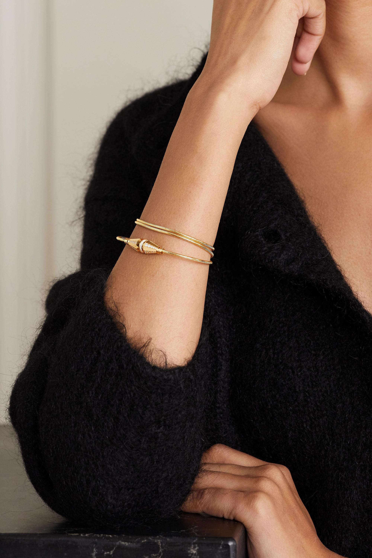 Boucheron Jack de Boucheron Triple Wrap 18-karat gold diamond bracelet