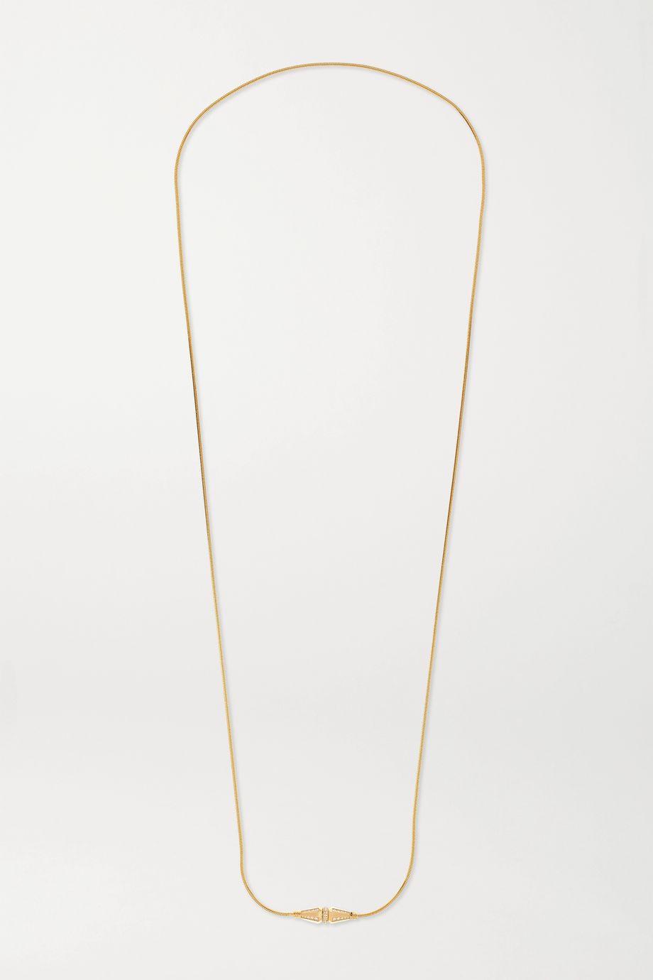 Boucheron Jack de Boucheron 18-karat gold diamond necklace